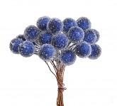 Bobulky ledové - zápich - tm.modré - 24 ks