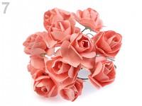 Růžičky papírové lososové - 12ks