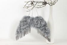 Andělská křídla 24x19 cm - šedá