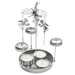 Andělské zvonění 20cm stříbrné - andílci