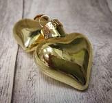 Baňka srdíčko mini - 4 cm - zlaté