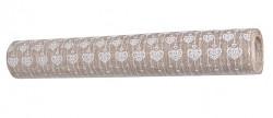 Imitace pytloviny natur - bílá srdíčka - 3m