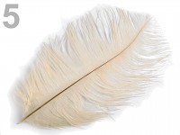 Pštrosí péro - krémové