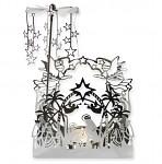Kolotoč betlém kovový - stříbrné andělské zvonění