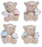 Medvídek keramika růžový/modrý - 35 mm