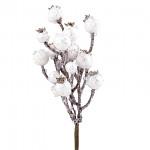 Větvička cypřiš zasněžený s bobulemi - 24cm