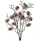 Větvička vánoční s hvězdičkami - 60 cm