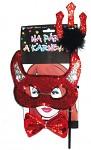 Čertovská souprava - maska a rohy