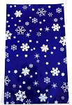 Celofánový sáček - modro-bílý  s vločkami 15x 25 cm