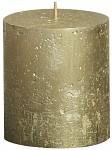 Svíčka rustikální - 8 cm - zlatá
