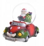 Sněžítko se Santou v autíčku