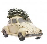 Svítící auto - brouk - se stromkem - bílé