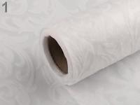 Vlizelín vintage vzor - 30 cm/4,5 m - bílý