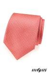 Kravata pánská lux  - korálová vzor