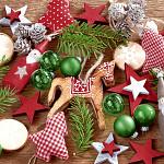 Ubrousky vánoční - bílé s vánočními motivy - 20 ks