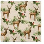 Ubrousky vánoční - vánoční strom se zvířátky