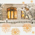 Ubrousky vánoční - modré s andílkem - 20 ks