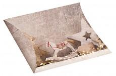 Krabička dárková vánoční - kapsička hnědá