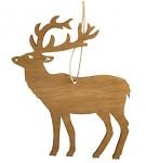 Dřevěný jelen závěsný - hnědý