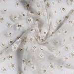 Látková šerpa bílá se sedmikráskami 36cm/250 cm
