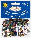 Konfety - hvězdičky barevné