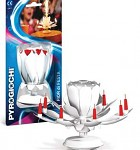 Dortová fontána - růže hrající - bílá