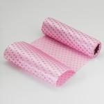 Satén stuha růžová s glitr srdíčky - 5 m