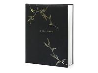 Svatební kniha hostů - černá se zlatými větvemi