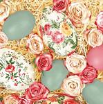 Ubrousky - jarní s rudými tulipány