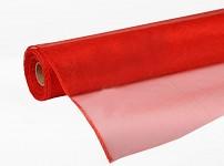 Organza stuha - briliant červená 12cm