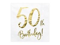 Ubrousky bílozlaté - 50. narozeniny