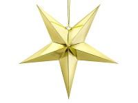 Papírová hvězda 70 cm - zlatá