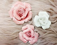 Růže porcelán - růžová - 4,5 cm