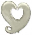 Foliový balonek - srdce červené- duté - 80cm