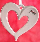 Porcelánové srdce duté bílé - závěs 11cm