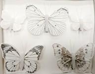 Motýl klip bílý - mix 5 ks