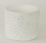 Betonový obal - bílý plastický vzor