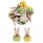 Velikonoční zajíček sedící - látkové nožičky