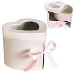Flower (květinový) box s přihrádkou - srdce růžové