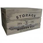 Dřevěná úložná krabice storage - střední