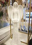 Anděl květinový bílý - 50 cm