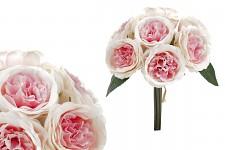Růže rozvité s poupaty - sv.růžové
