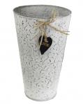 Plechový obal Vintage flowers - 27 cm