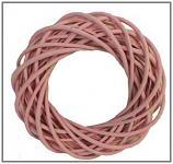 Věnec - růžový 25 cm