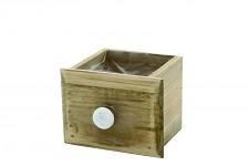Dřevěný šuplík hnědý - malý