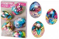 Velikonoční zdobení vajíček - pestré jaro - mramor