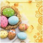 Ubrousky - velikonoční žluté s vajíčky