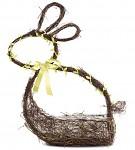 Proutěný košík s vajíčky - zajíček