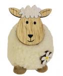 Dekorační ovečka chlupatá stojící