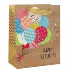 Dárková taška natur Happy birthday